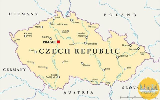 çek cumhuriyeti gezilecek yerler haritası