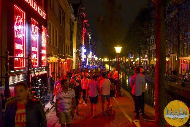 Amsterdam Red Light District Sokakları